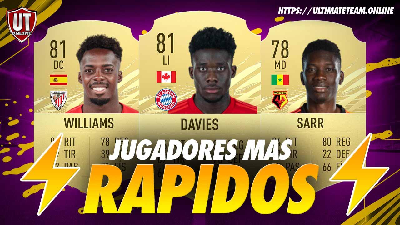 Jugadores Mas Rapidos FIFA 21