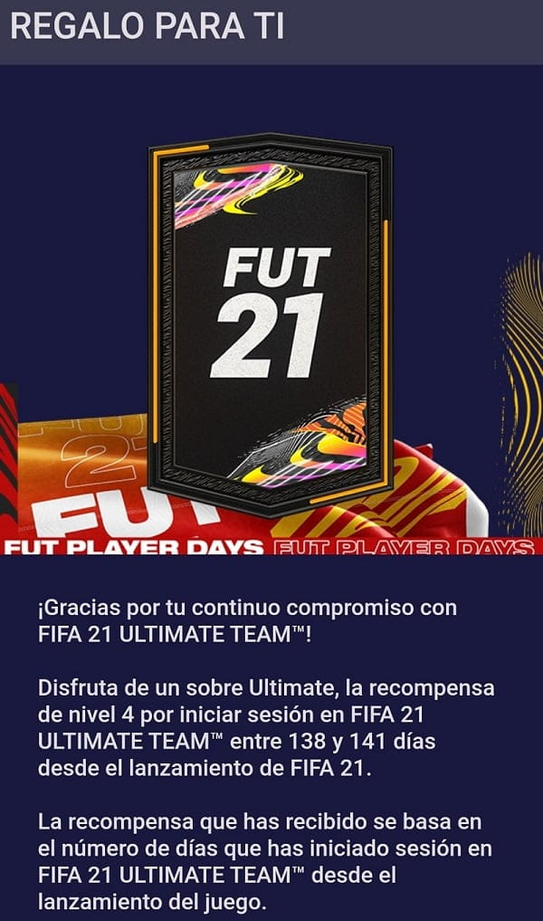 Sobre Gratis FUT Player Days FIFA 21