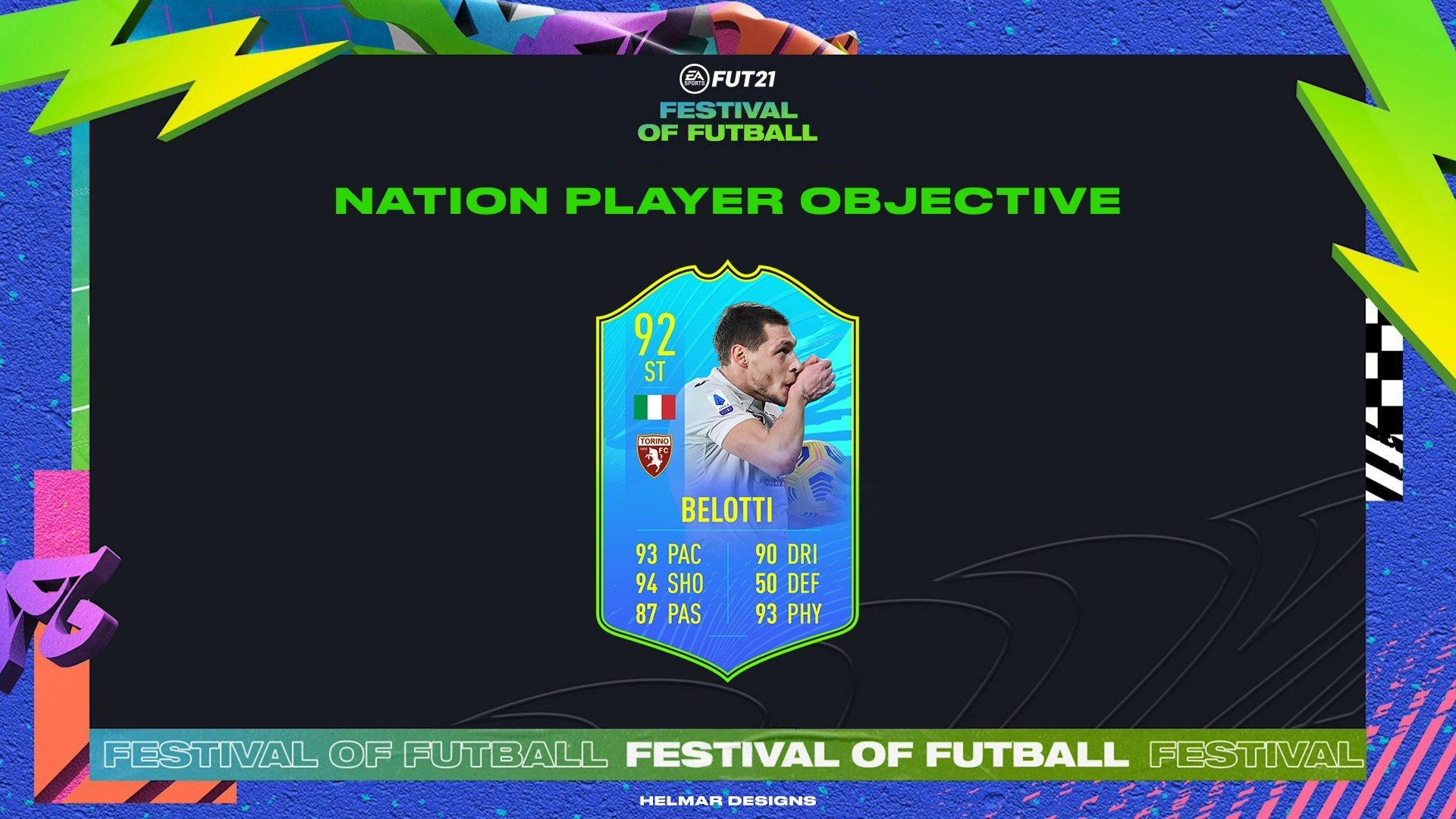 Andrea Belotti Nacion Festival de FUTbol FIFA 21