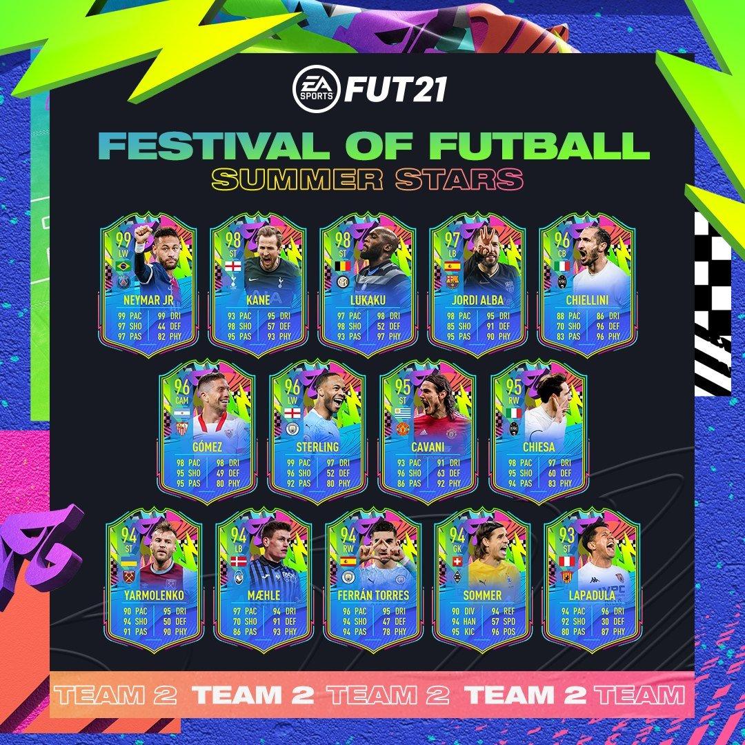 Equipo 2 Estrellas Verano FIFA 21
