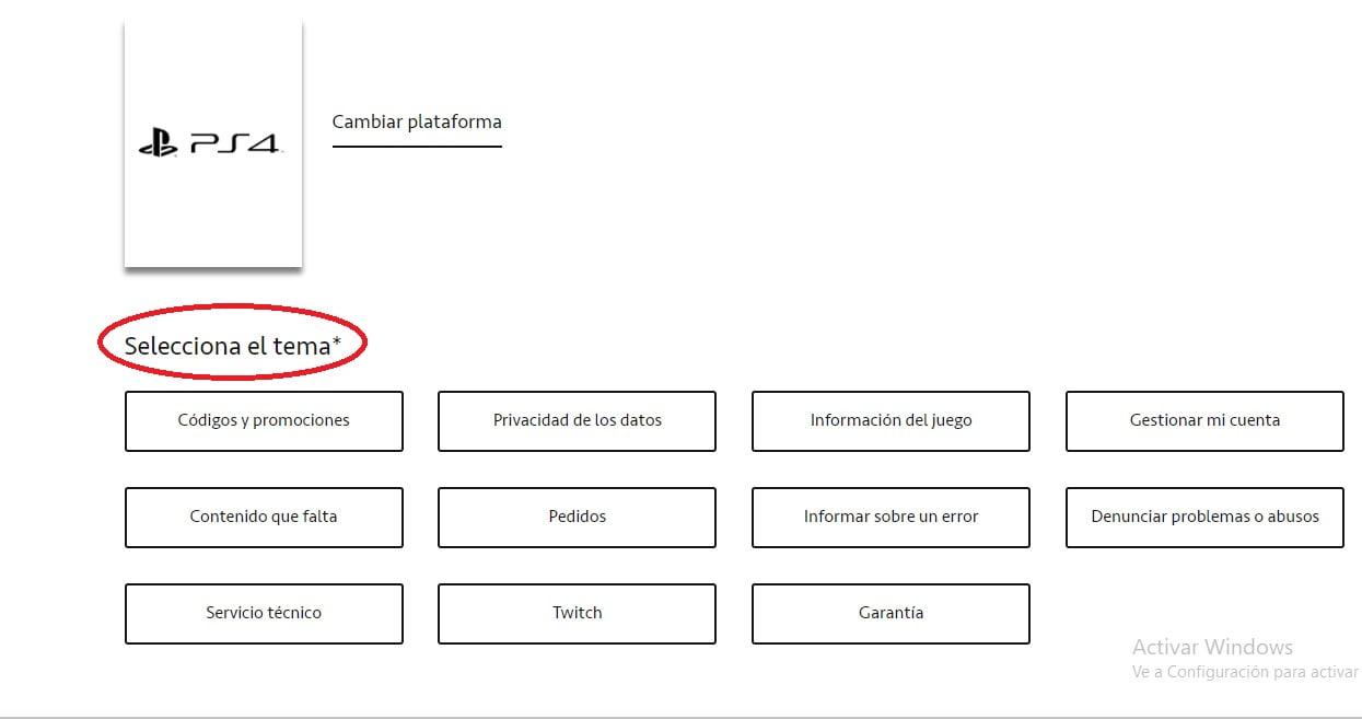 Escoger Tema Incidencia EA Help